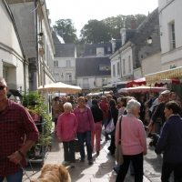 Market day in the town of Loches